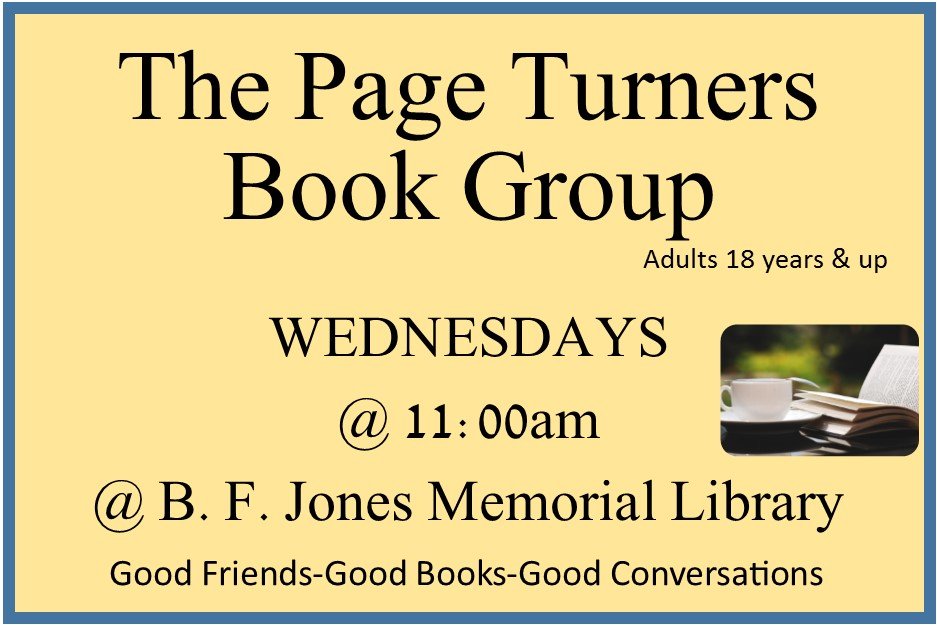 2018 Page Turners Book Club