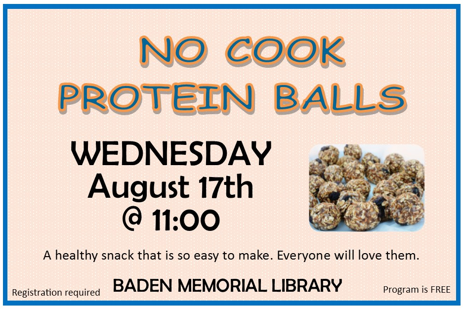 No Cook Protein Balls Class