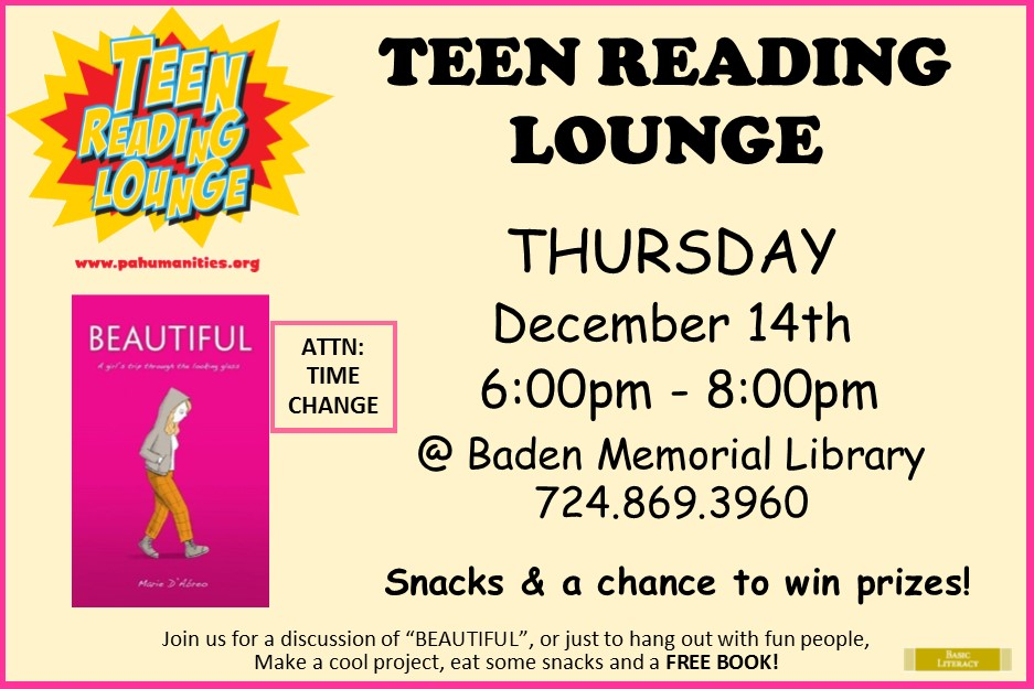 Teen Reading Lounge December 14th