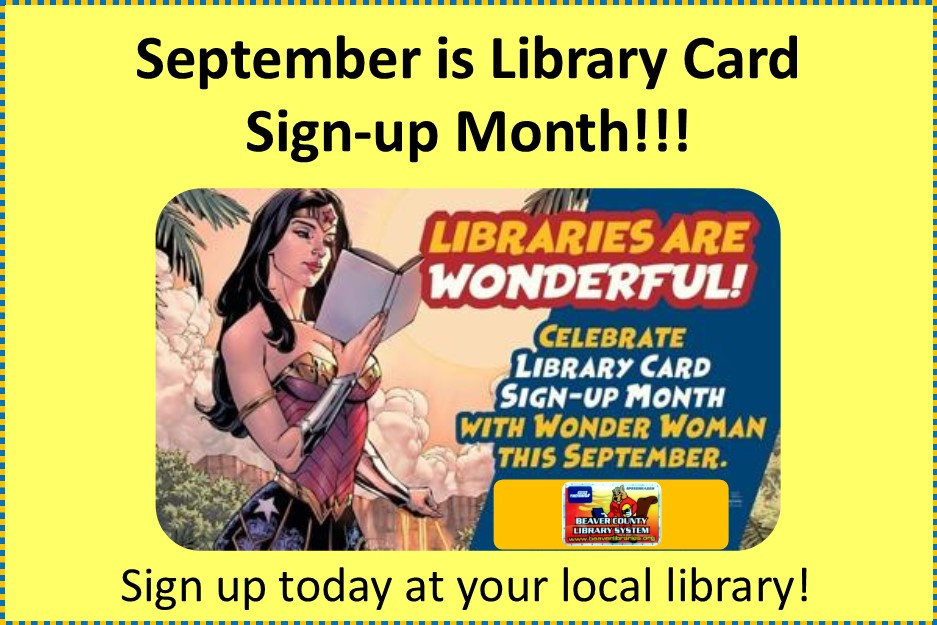 September is Library Card Sign Up Month 2020