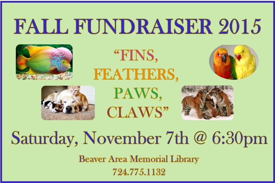 Fall Fundraiser - Fins, Feather, Paws and Claws