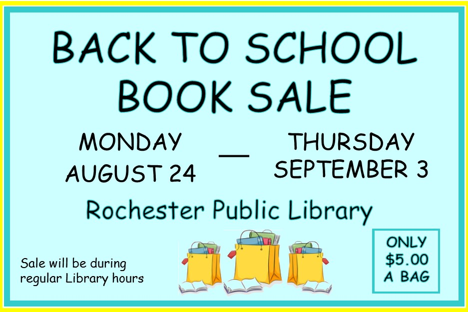 Back to School Book Sale - August 24th - September 3rd