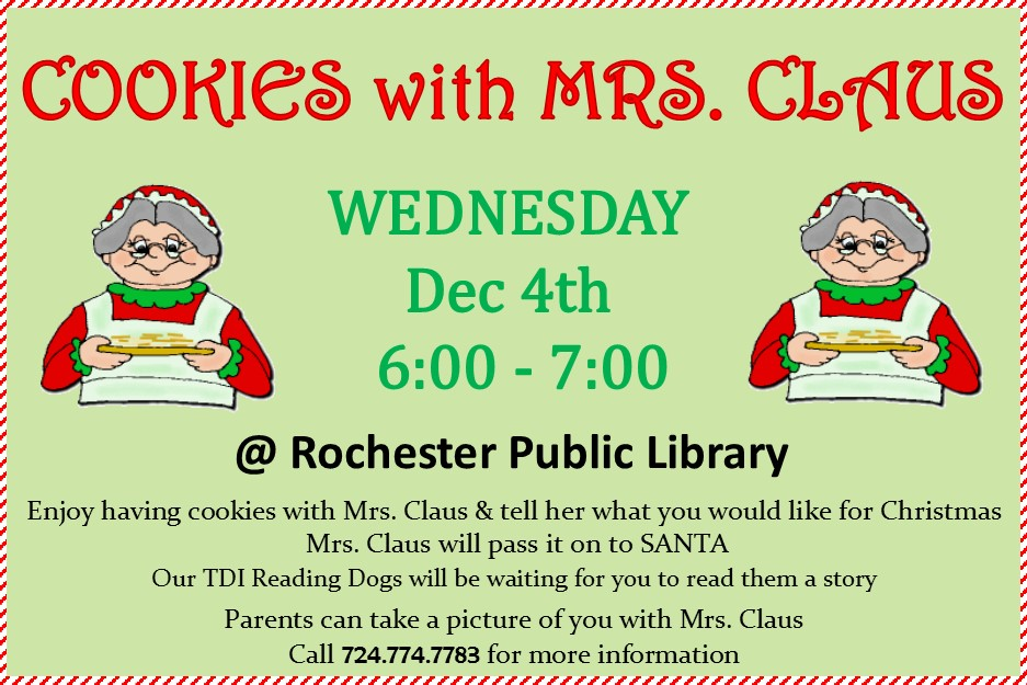 Cookies with Mrs Claus 2019